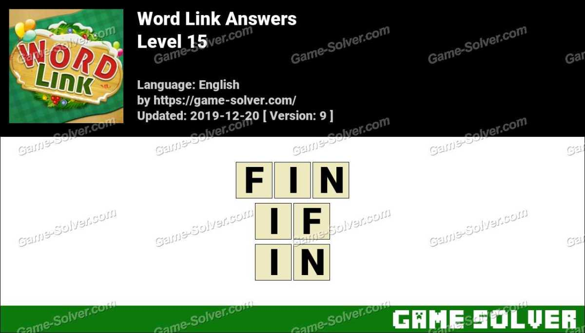 Word Link Level 15 Answers