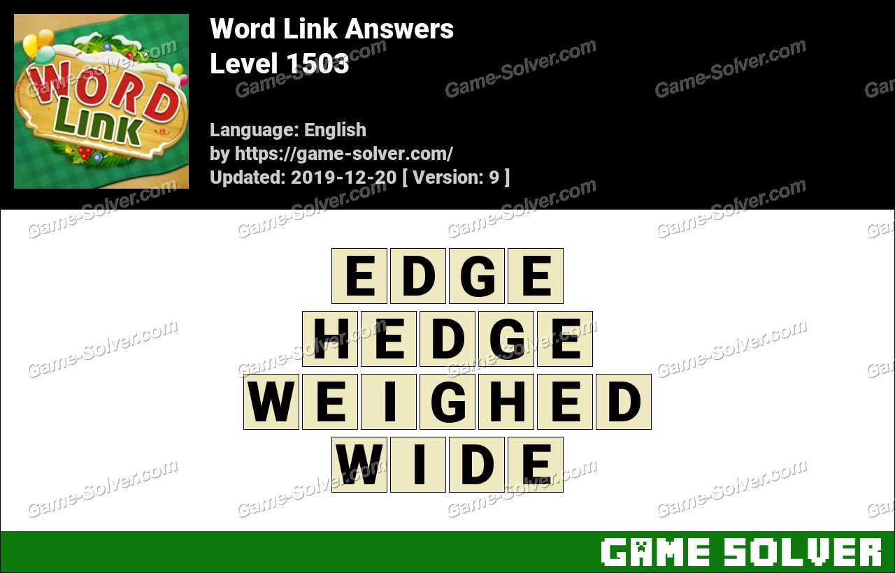 Word Link Level 1503 Answers