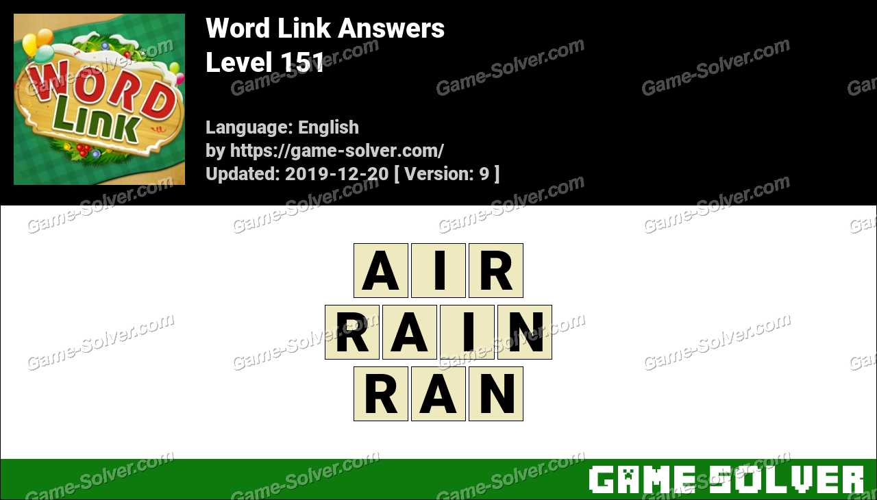Word Link Level 151 Answers