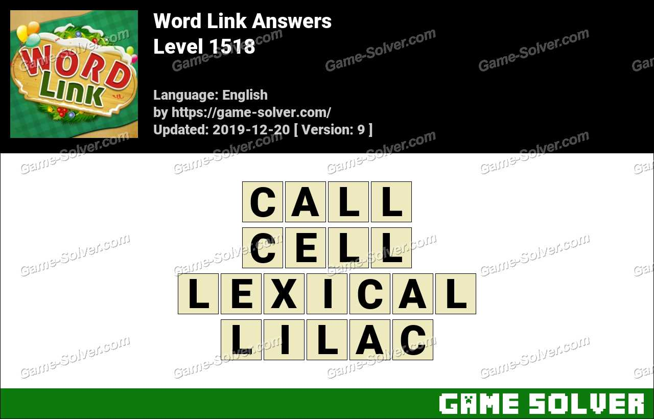 Word Link Level 1518 Answers