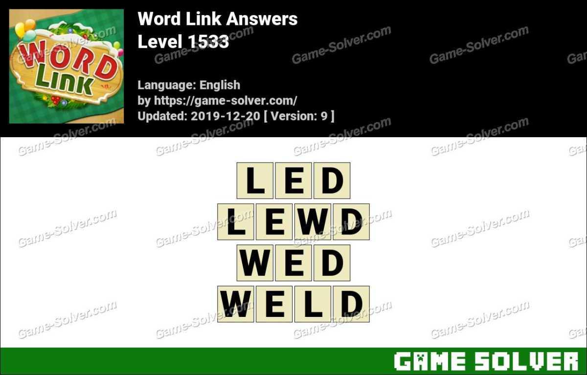 Word Link Level 1533 Answers