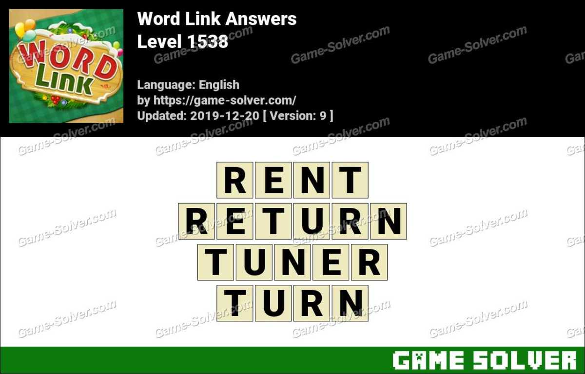 Word Link Level 1538 Answers