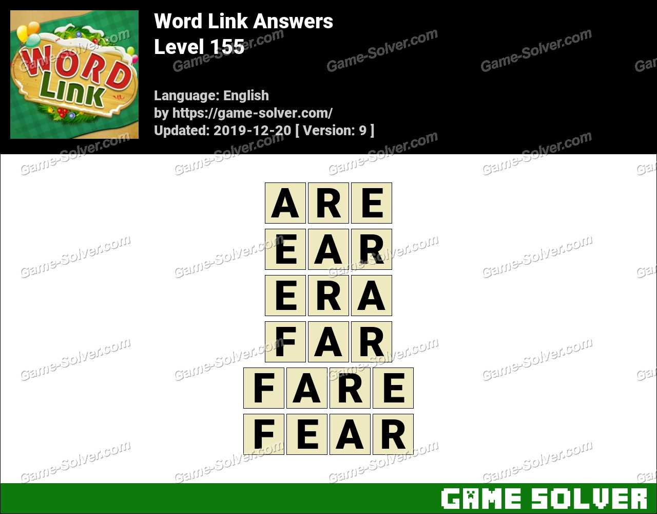 Word Link Level 155 Answers