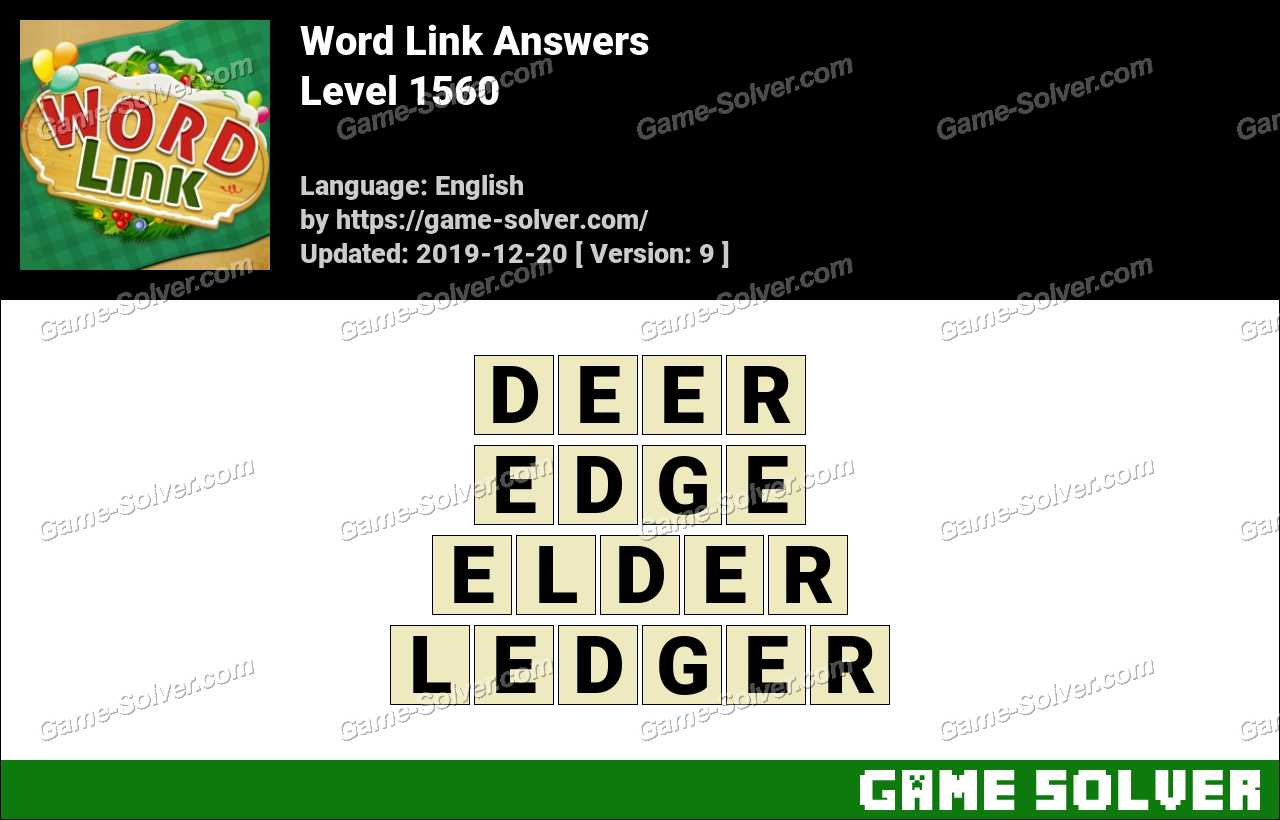 Word Link Level 1560 Answers