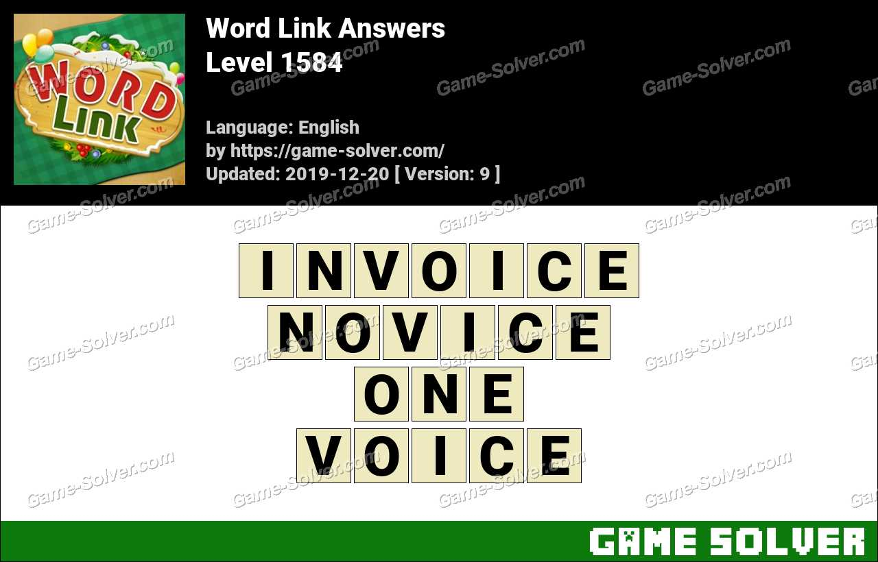 Word Link Level 1584 Answers