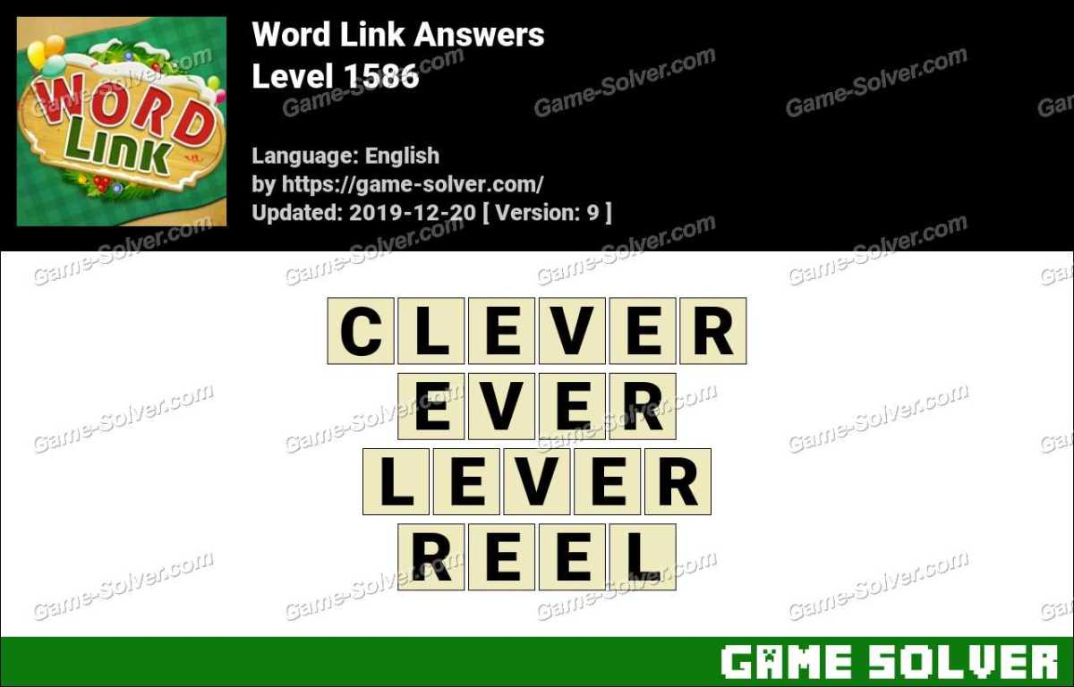 Word Link Level 1586 Answers