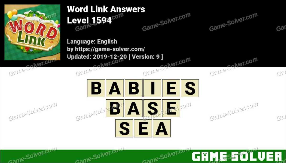 Word Link Level 1594 Answers