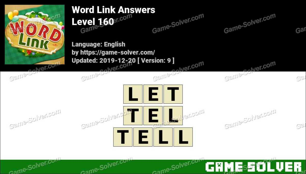 Word Link Level 160 Answers