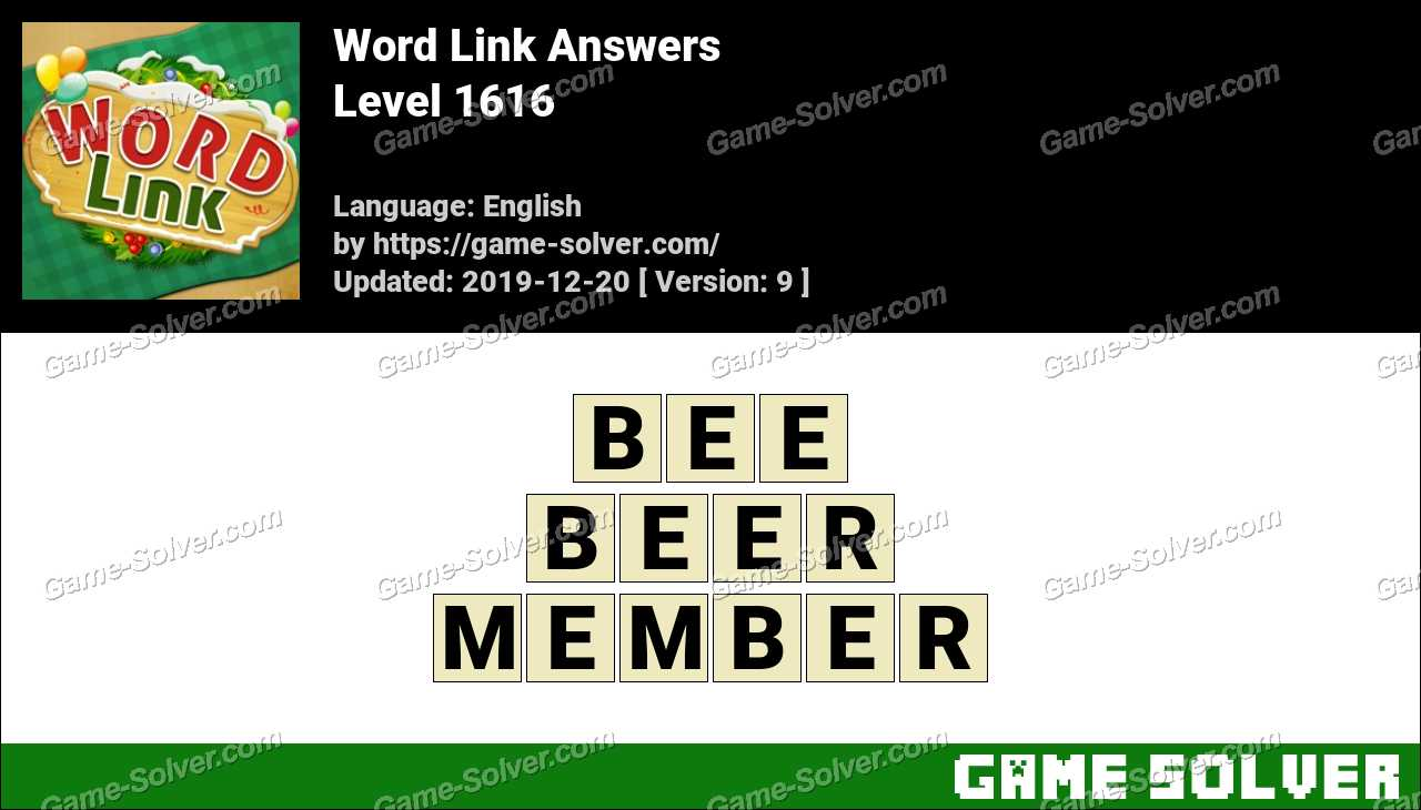 Word Link Level 1616 Answers