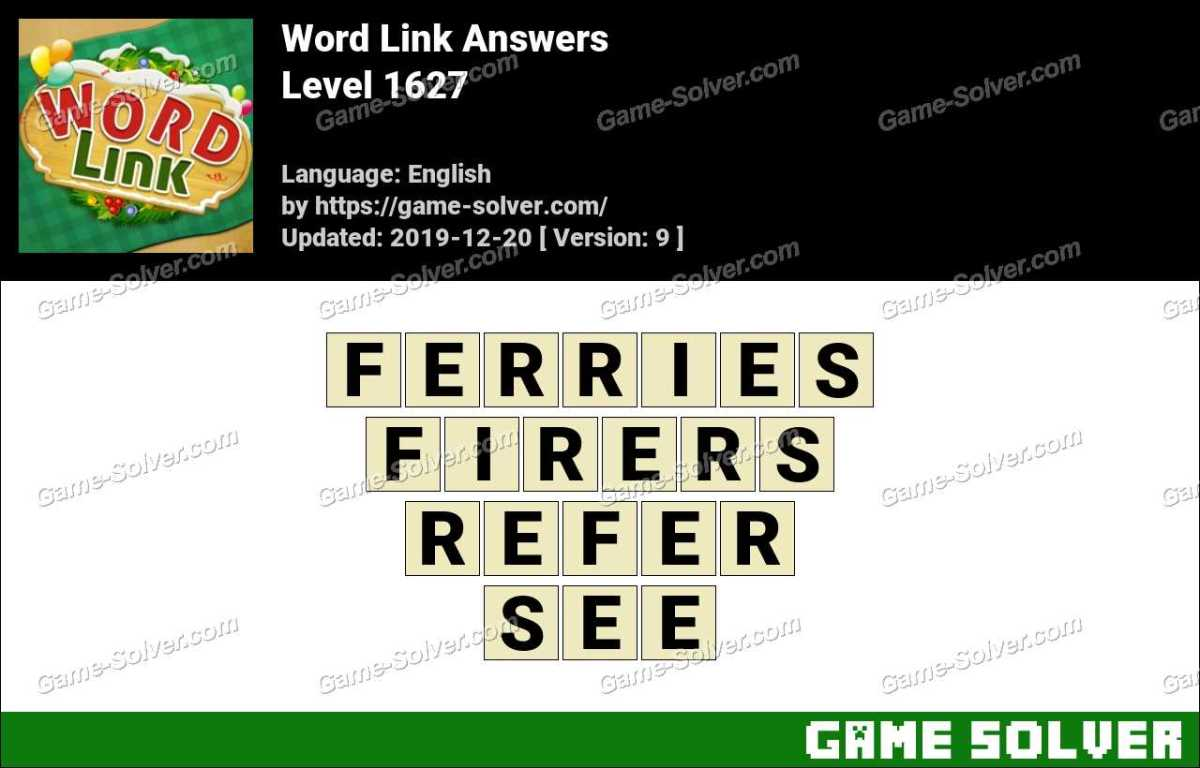 Word Link Level 1627 Answers