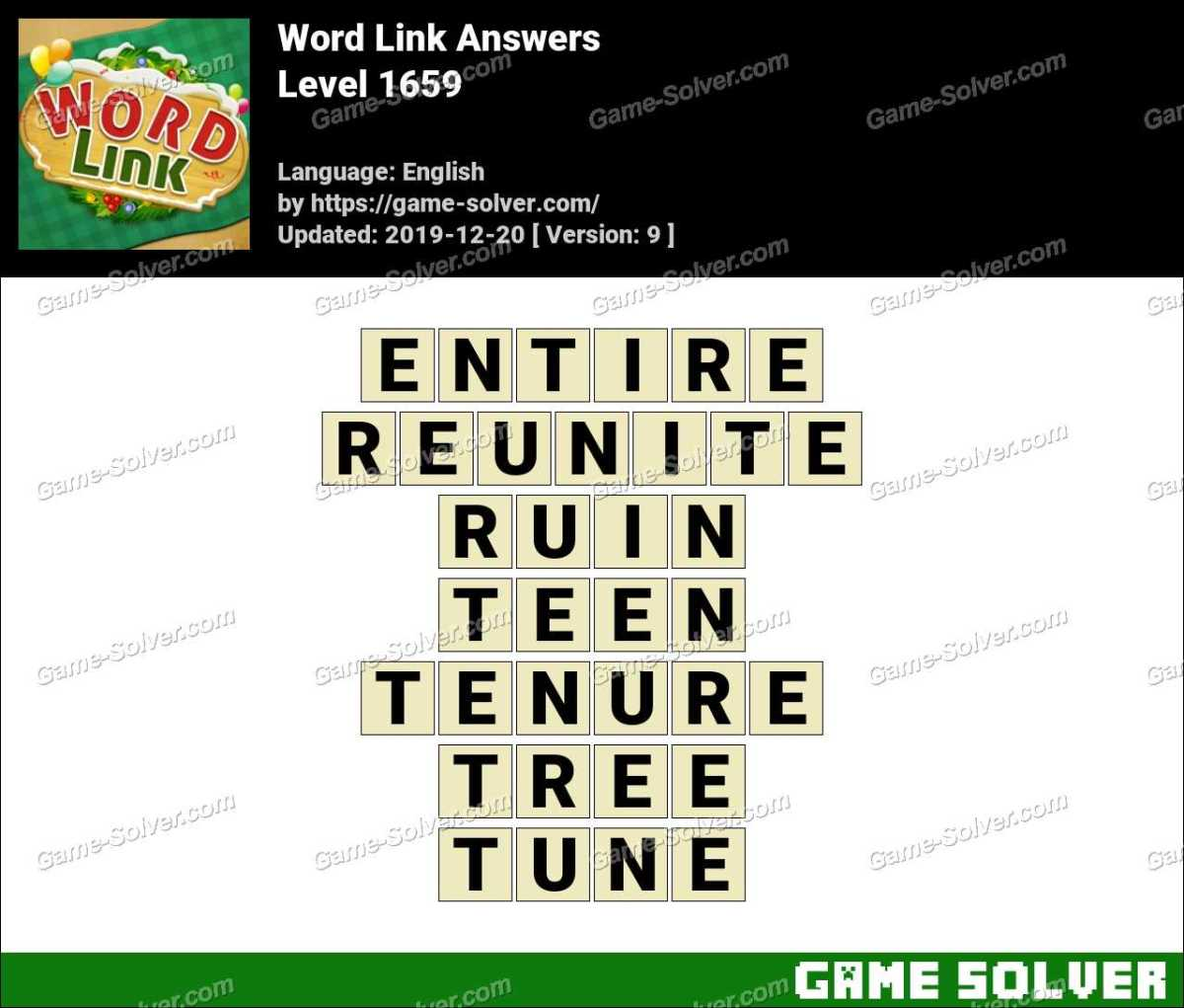 Word Link Level 1659 Answers