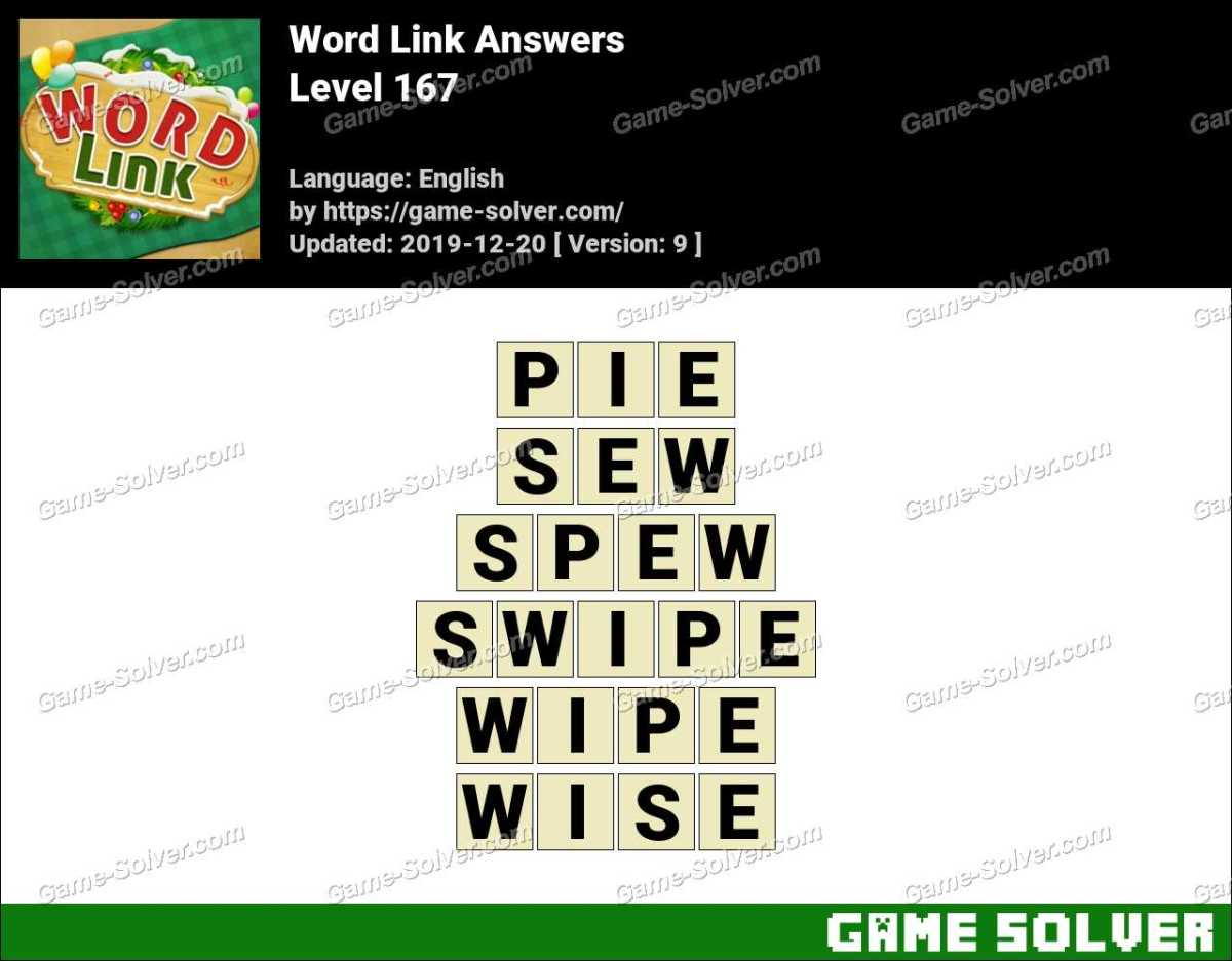 Word Link Level 167 Answers