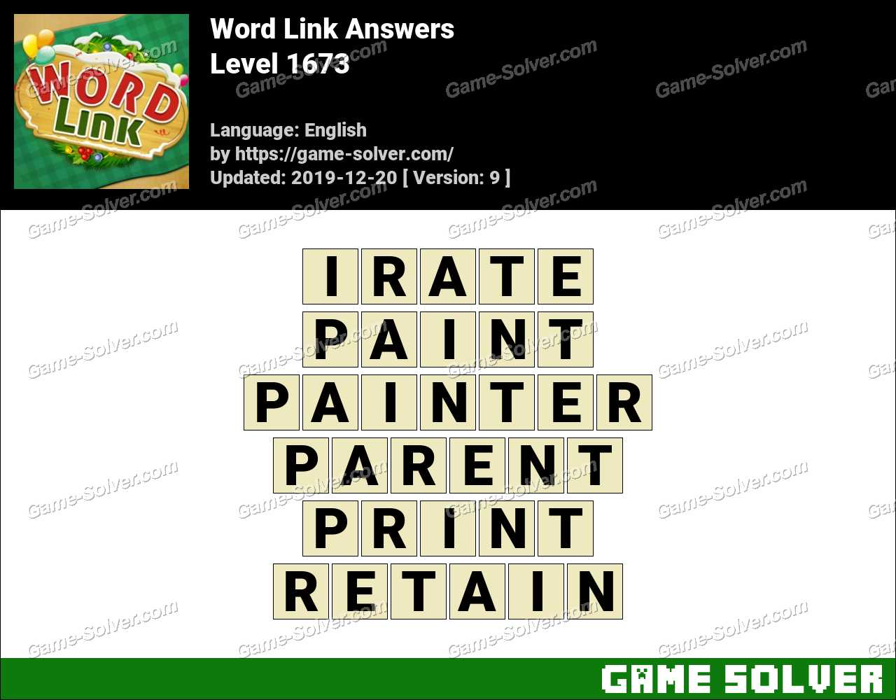 Word Link Level 1673 Answers