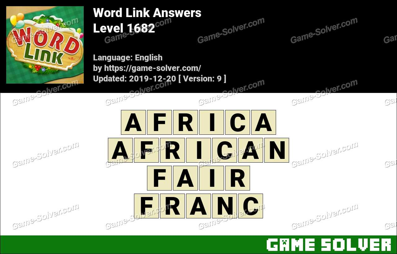 Word Link Level 1682 Answers