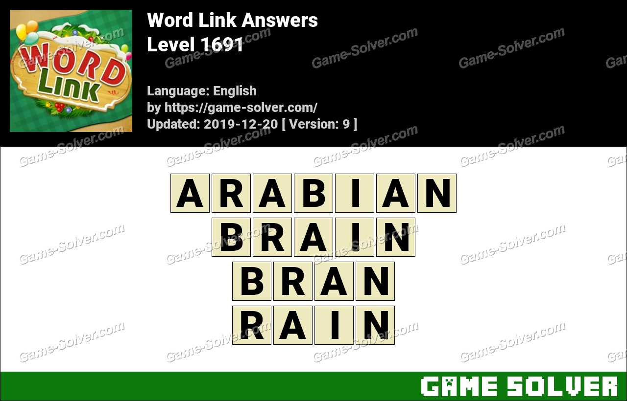 Word Link Level 1691 Answers