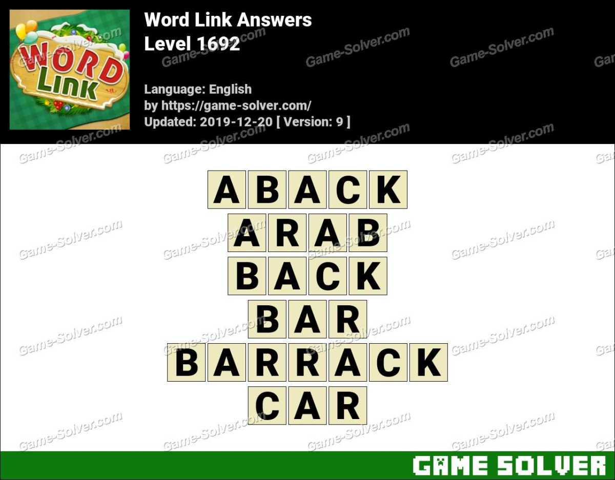 Word Link Level 1692 Answers