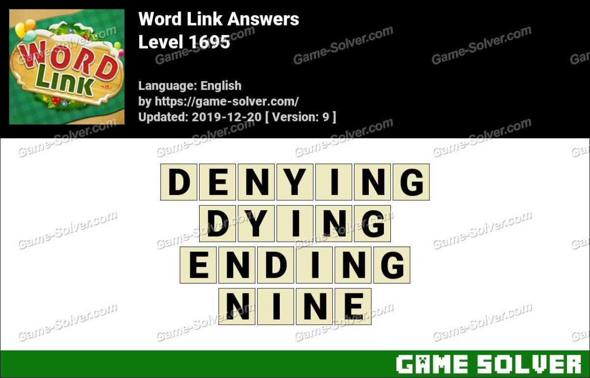 Word Link Level 1695 Answers