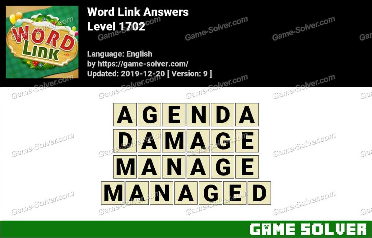 Word Link Level 1702 Answers