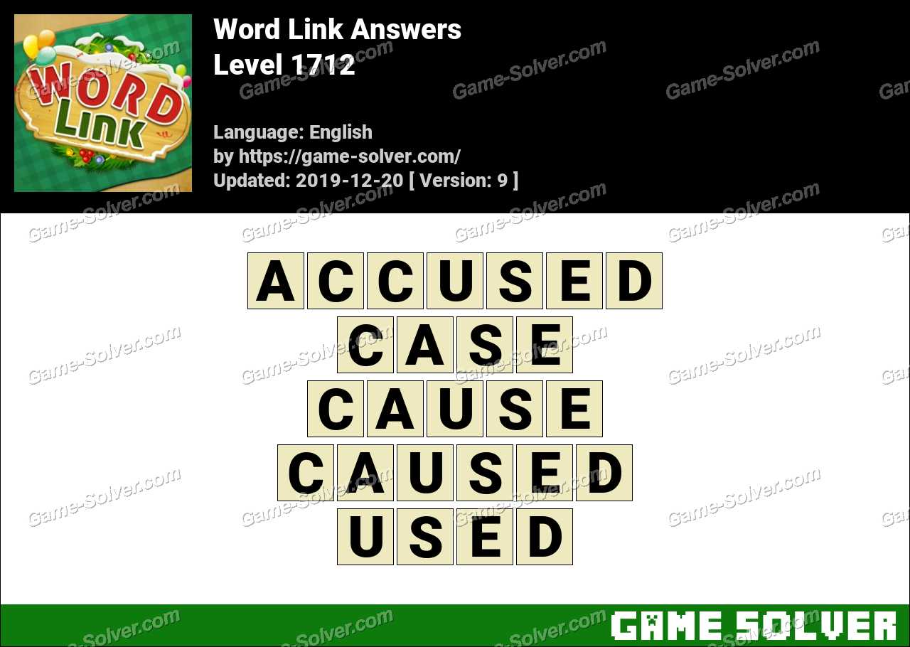 Word Link Level 1712 Answers