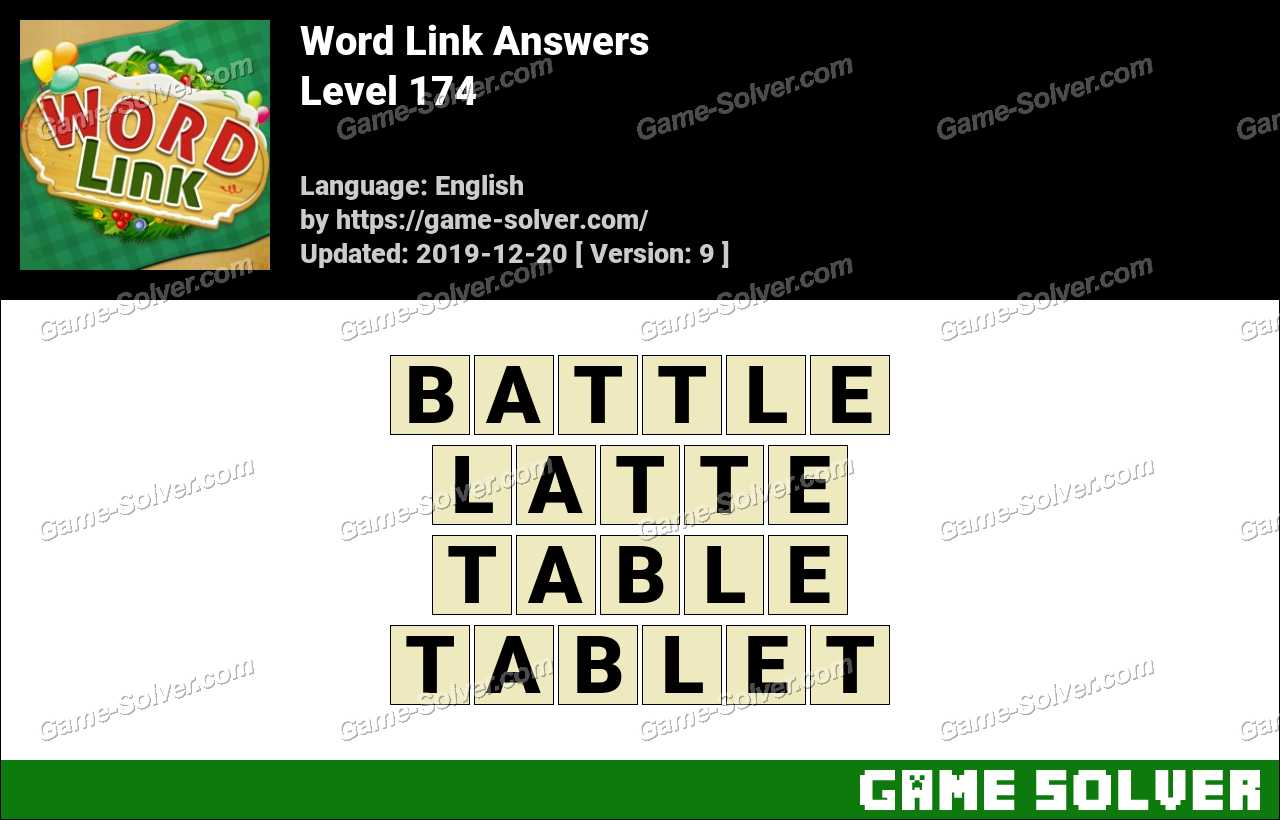 Word Link Level 174 Answers