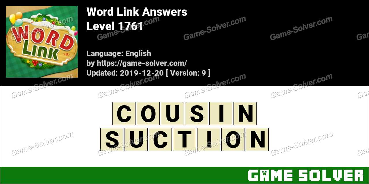Word Link Level 1761 Answers