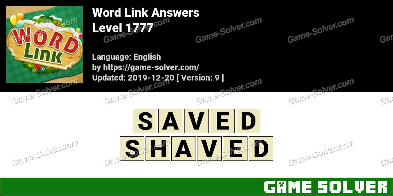 Word Link Level 1777 Answers