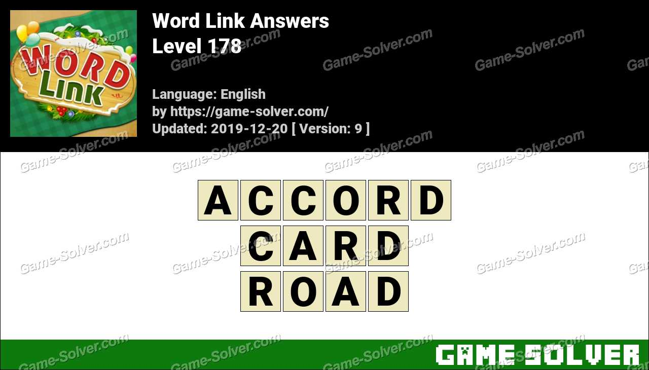 Word Link Level 178 Answers