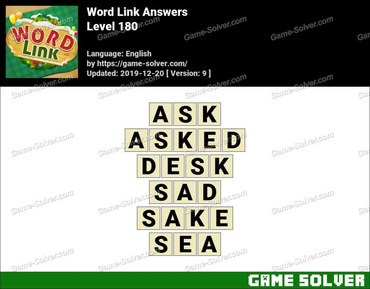 Word Link Level 180 Answers