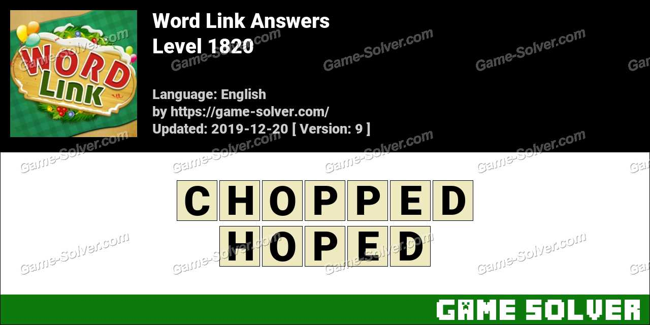 Word Link Level 1820 Answers