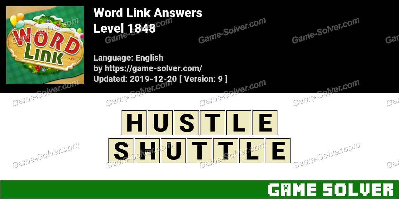 Word Link Level 1848 Answers