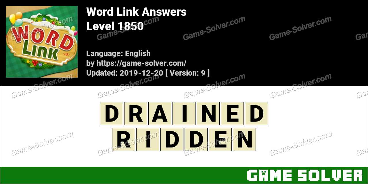Word Link Level 1850 Answers
