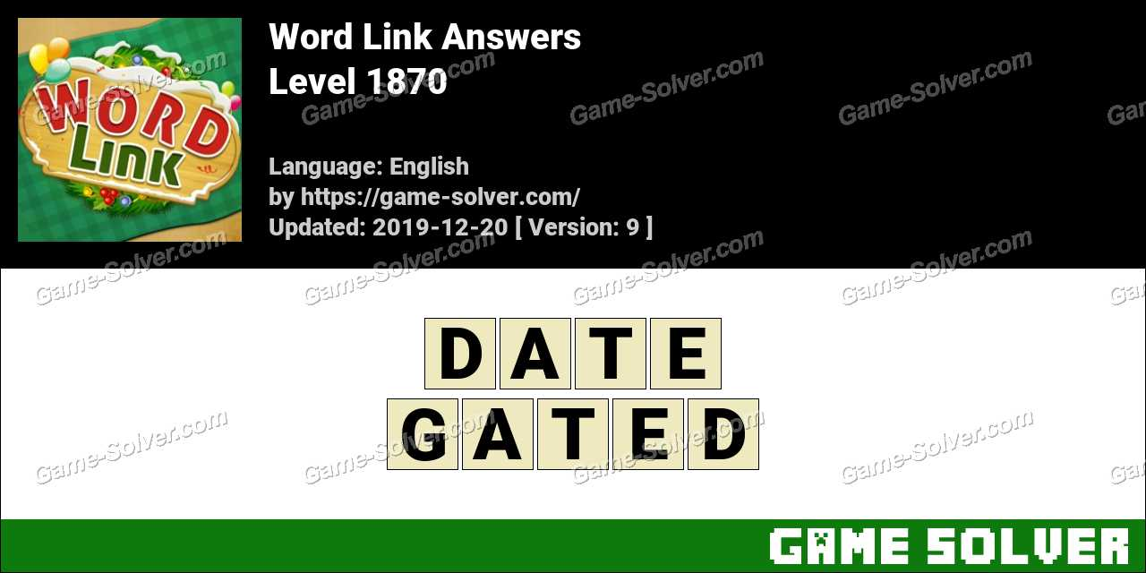 Word Link Level 1870 Answers