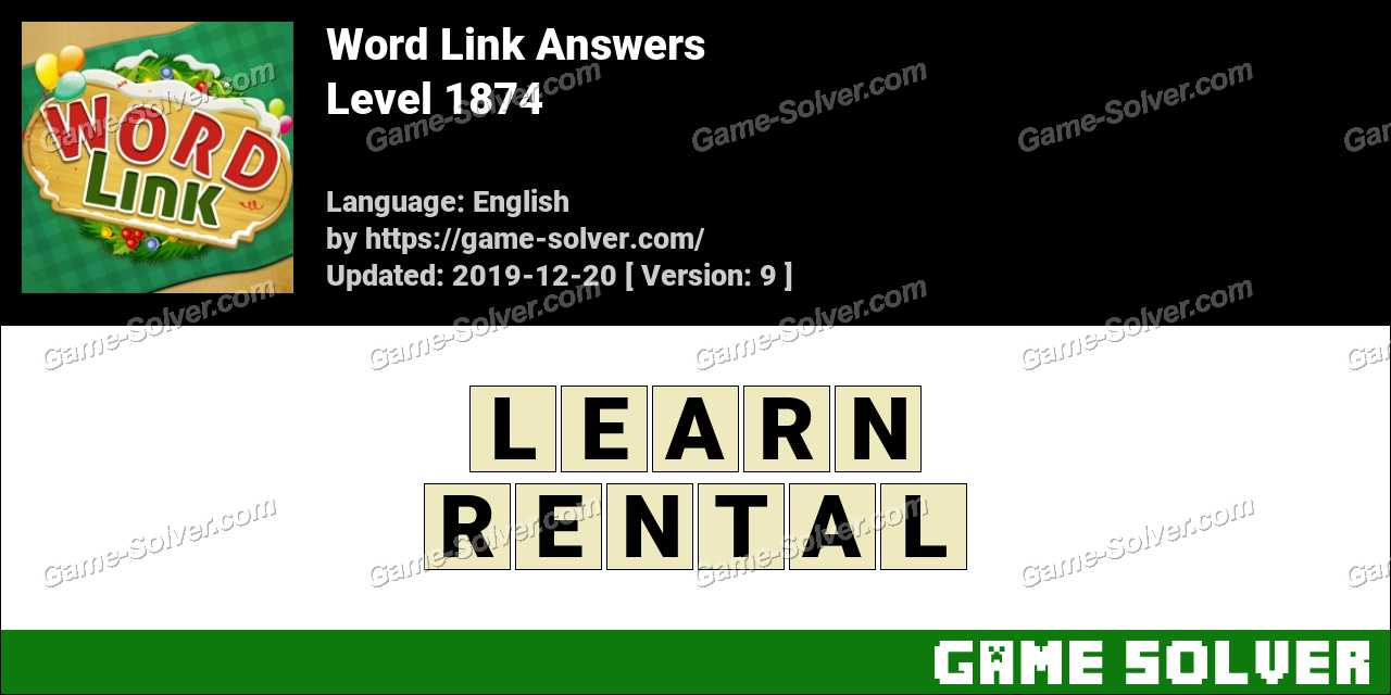 Word Link Level 1874 Answers