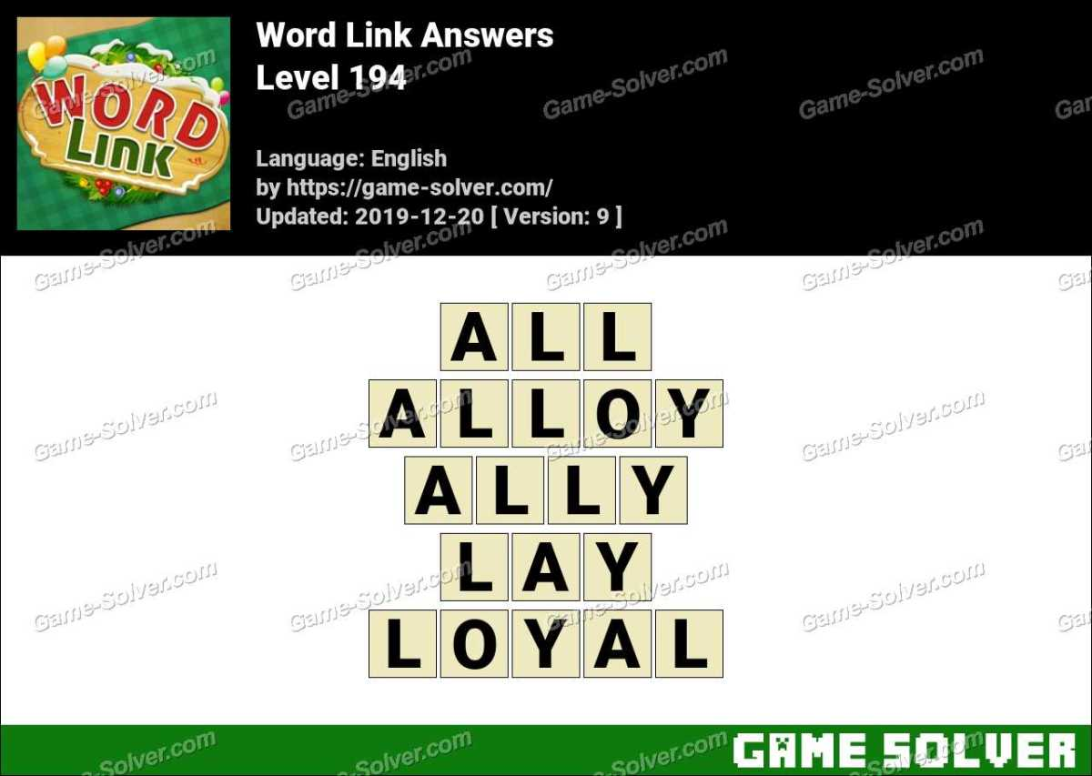 Word Link Level 194 Answers