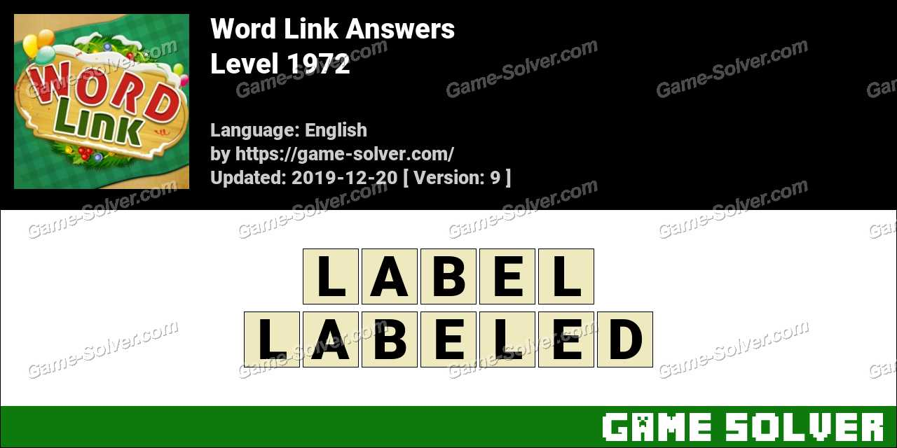Word Link Level 1972 Answers