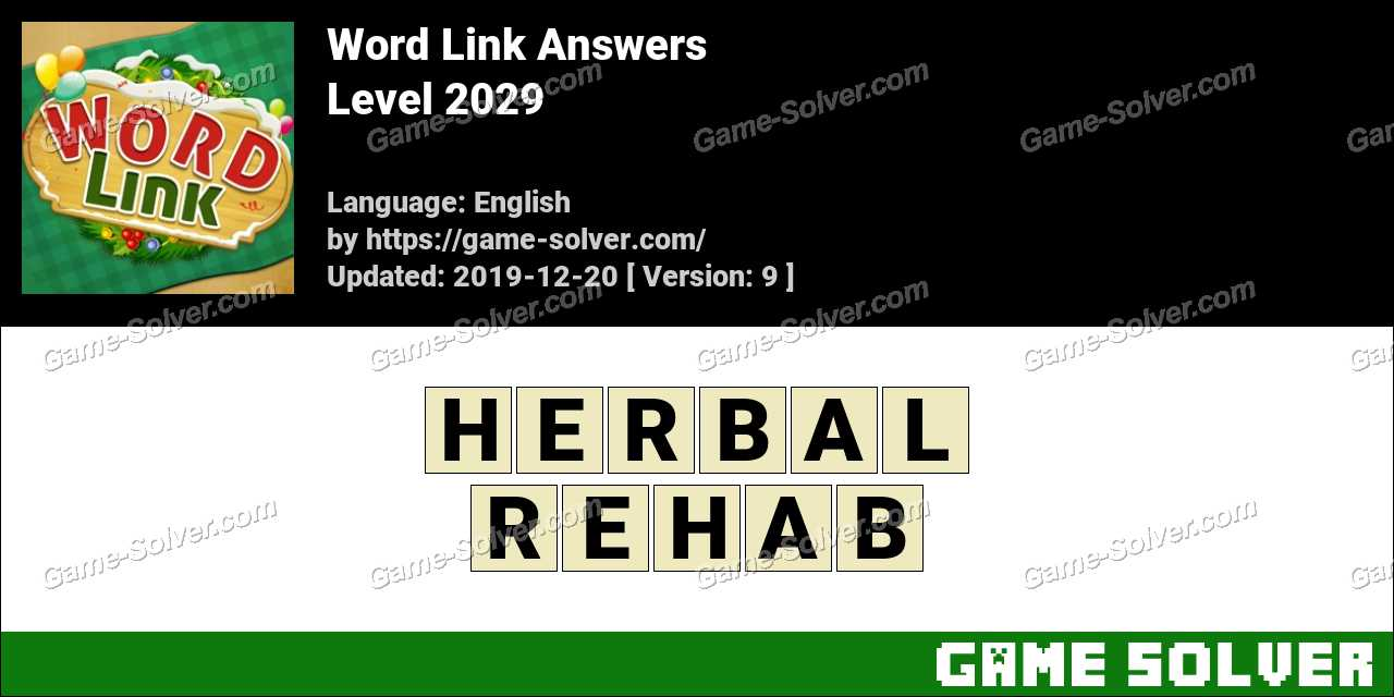 Word Link Level 2029 Answers
