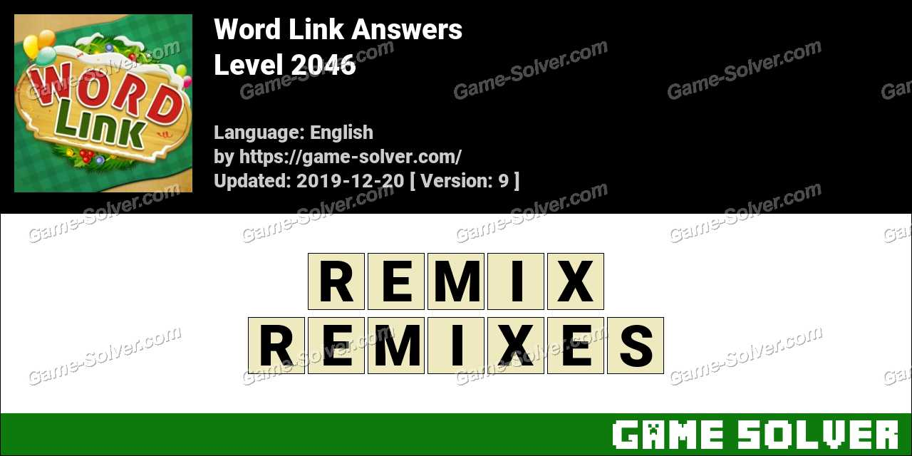 Word Link Level 2046 Answers