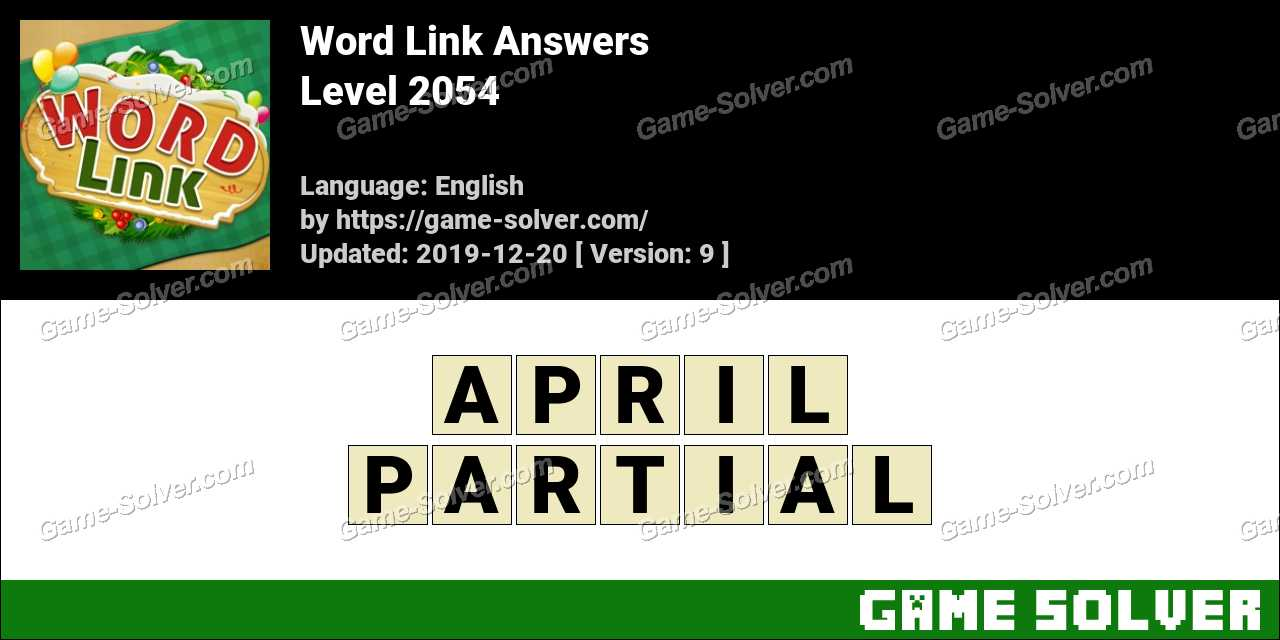 Word Link Level 2054 Answers