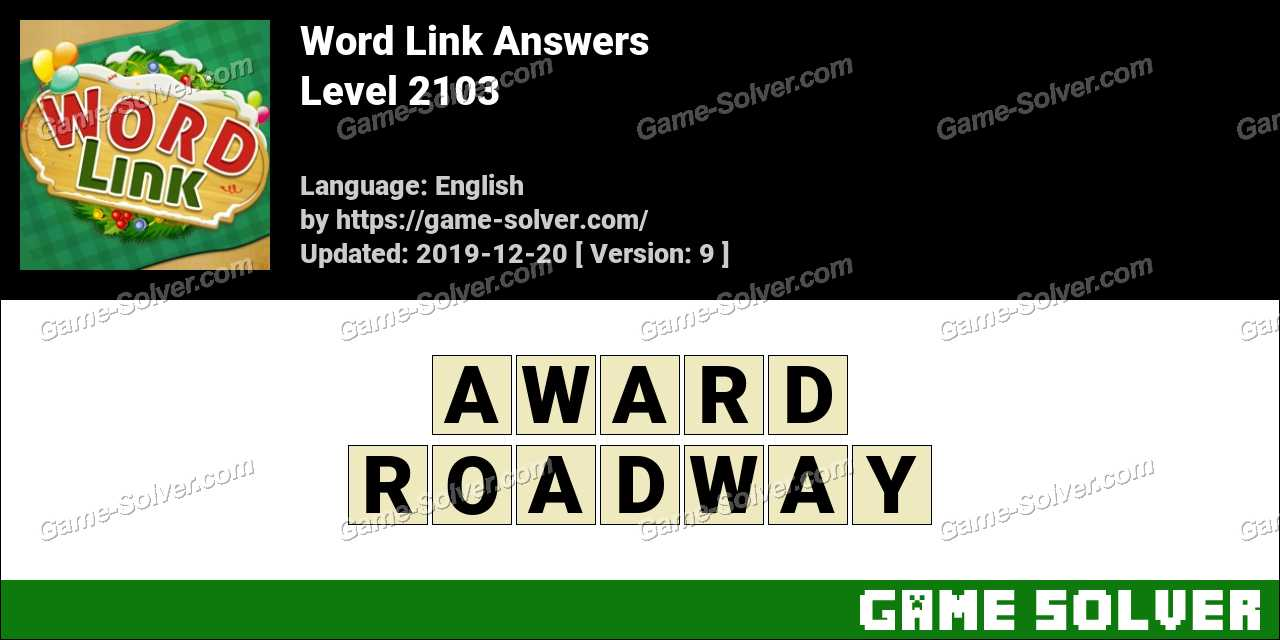 Word Link Level 2103 Answers