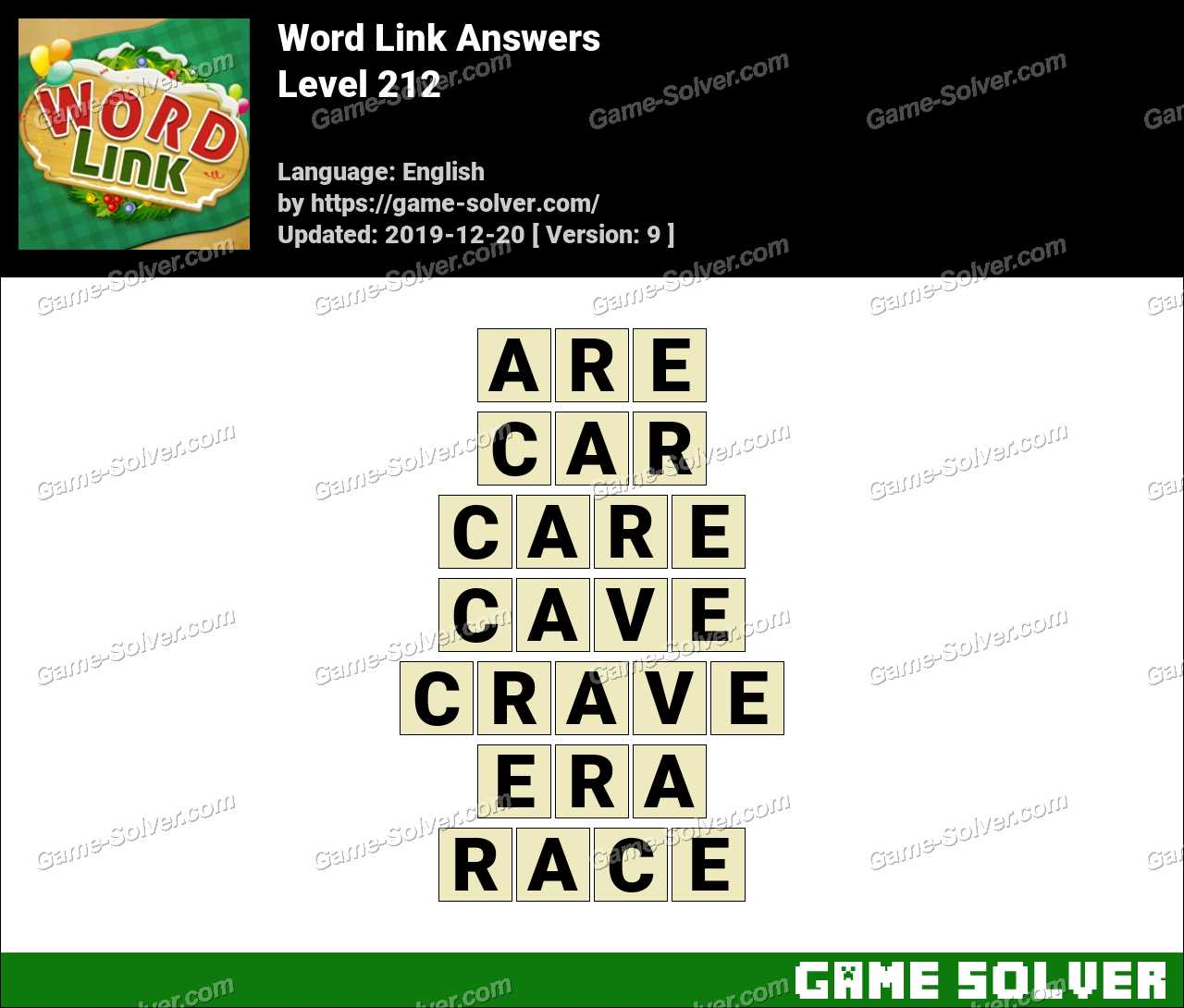 Word Link Level 212 Answers