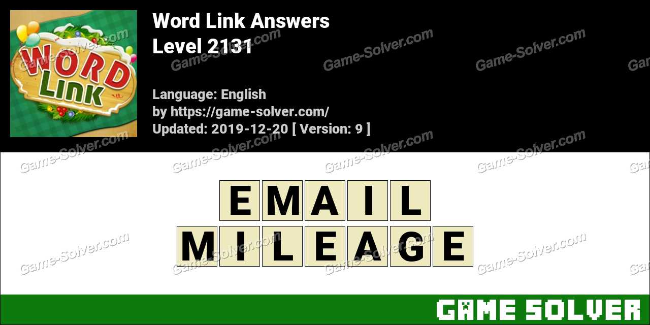Word Link Level 2131 Answers
