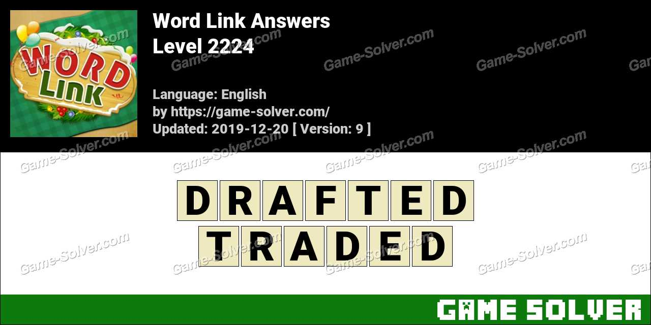 Word Link Level 2224 Answers