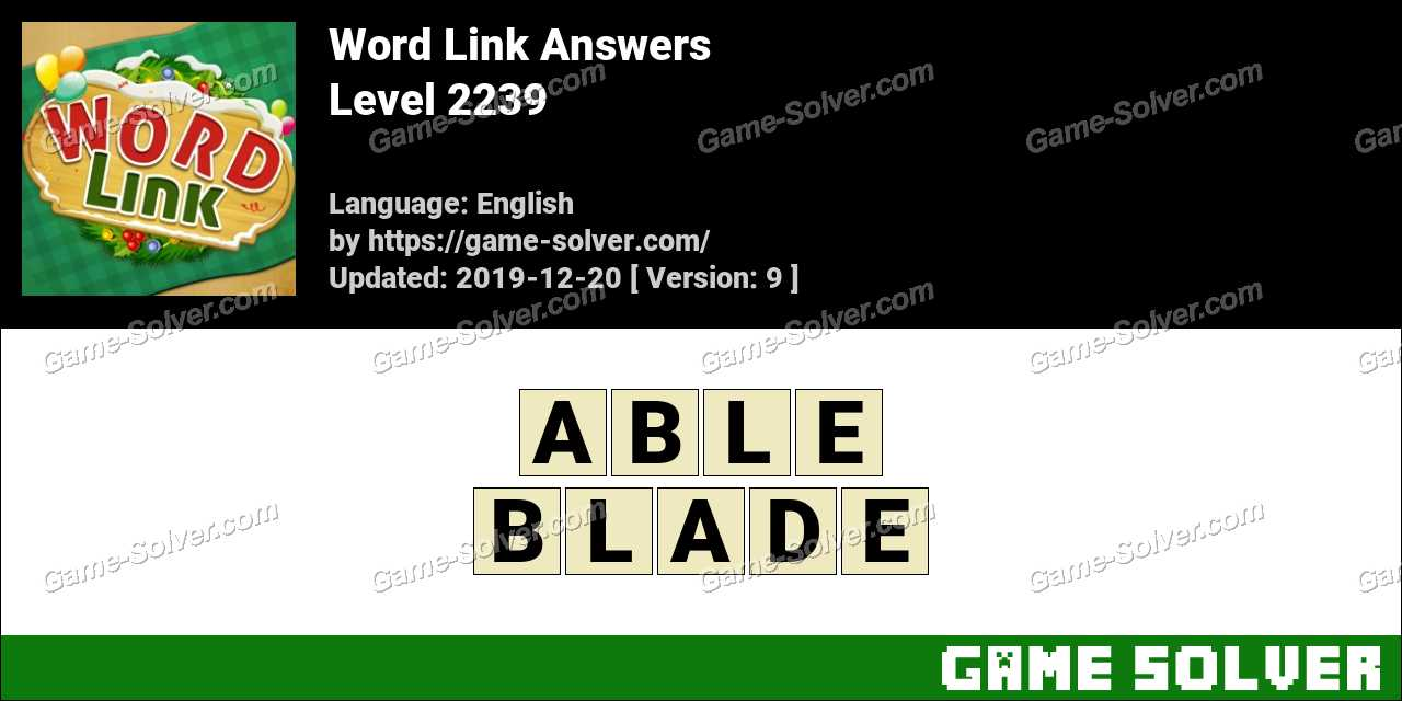 Word Link Level 2239 Answers