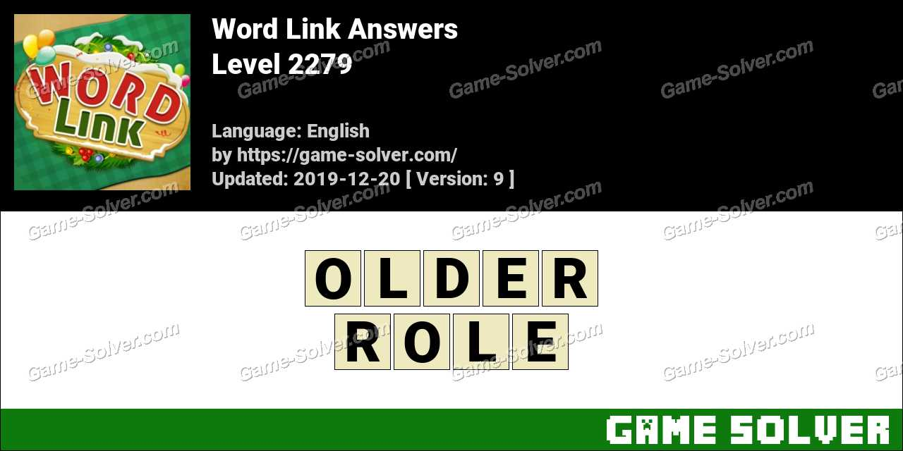 Word Link Level 2279 Answers