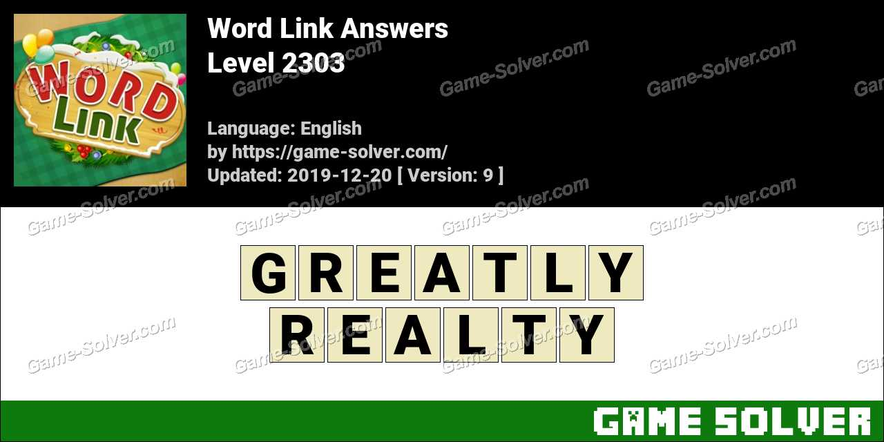 Word Link Level 2303 Answers