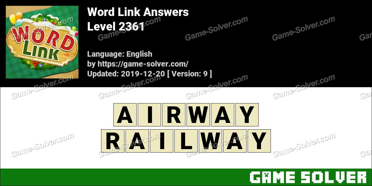 Word Link Level 2361 Answers