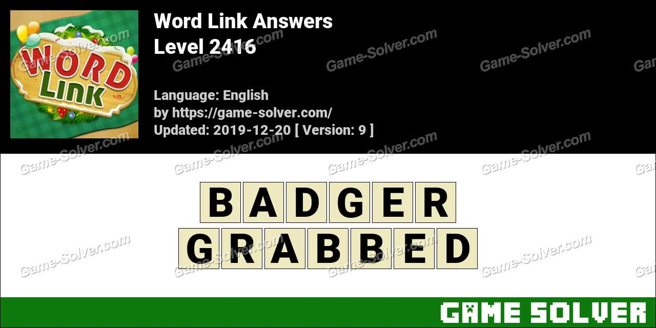 Word Link Level 2416 Answers