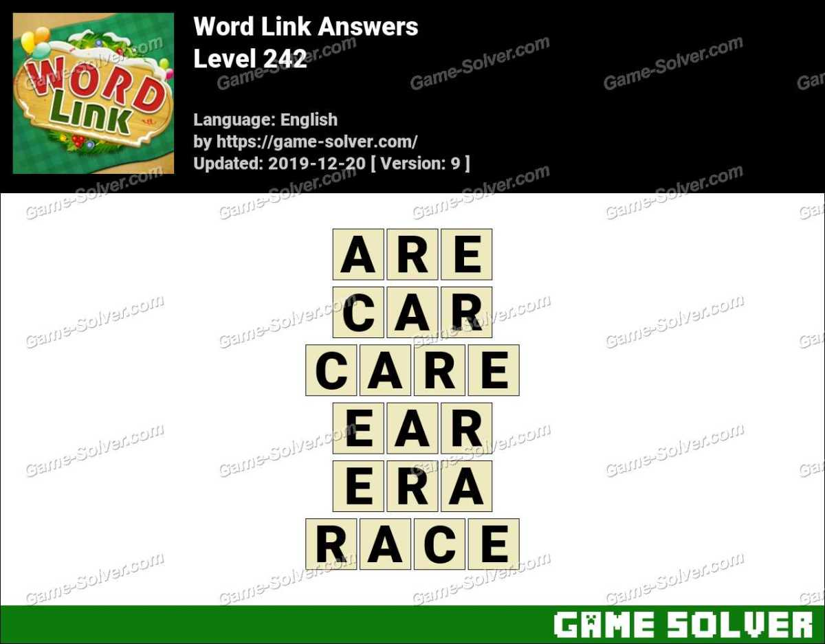 Word Link Level 242 Answers