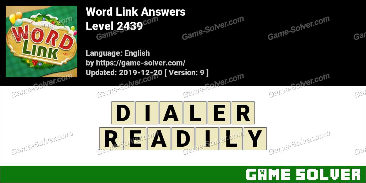 Word Link Level 2439 Answers