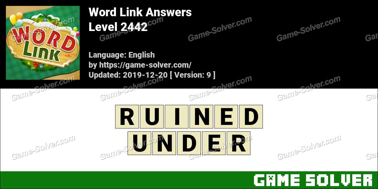Word Link Level 2442 Answers